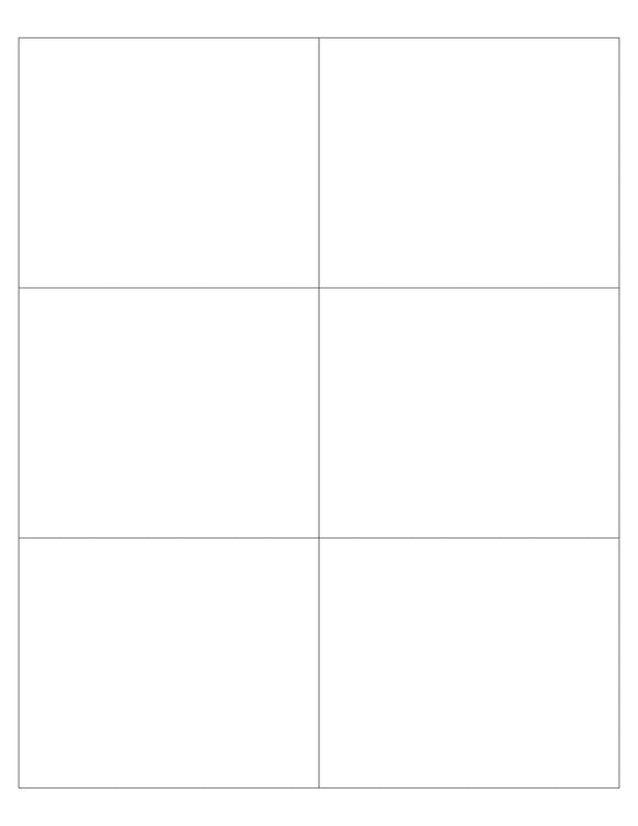 4 x 3 1/3 Rectangle White Printed Label Sheet (Square Corners)