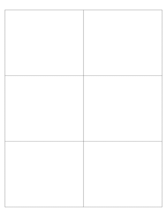 4 x 3 1/3 Rectangle White High Gloss Printed Label Sheet (Square Corners)