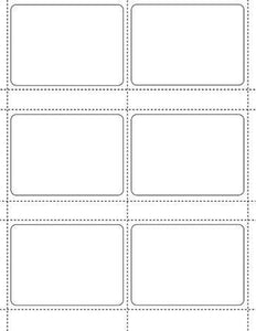 3 3/4 x 2 23/32 Rectangle White Label Sheet