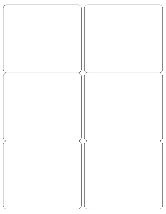4 x 3 1/2 Rectangle White Opaque BLOCKOUT Printed Label Sheet