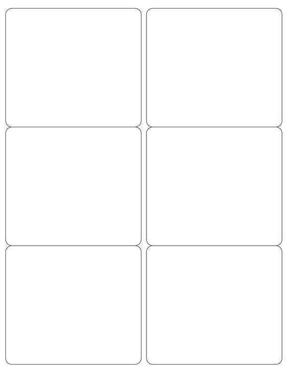 4 x 3 1/2 Rectangle White Printed Label Sheet