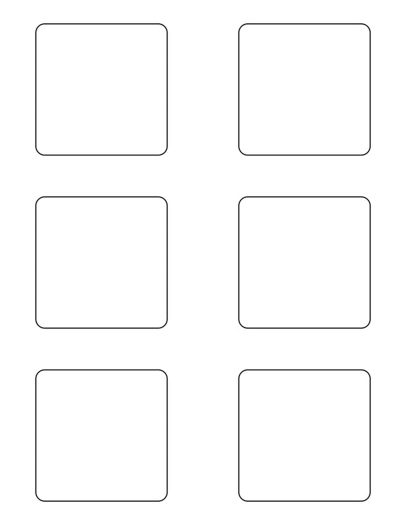 2 3/4 x 2 3/4 Square White Printed Label Sheet
