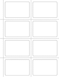 3 1/2 x 2 1/4 Rectangle White Label Sheet (w/ perfs)