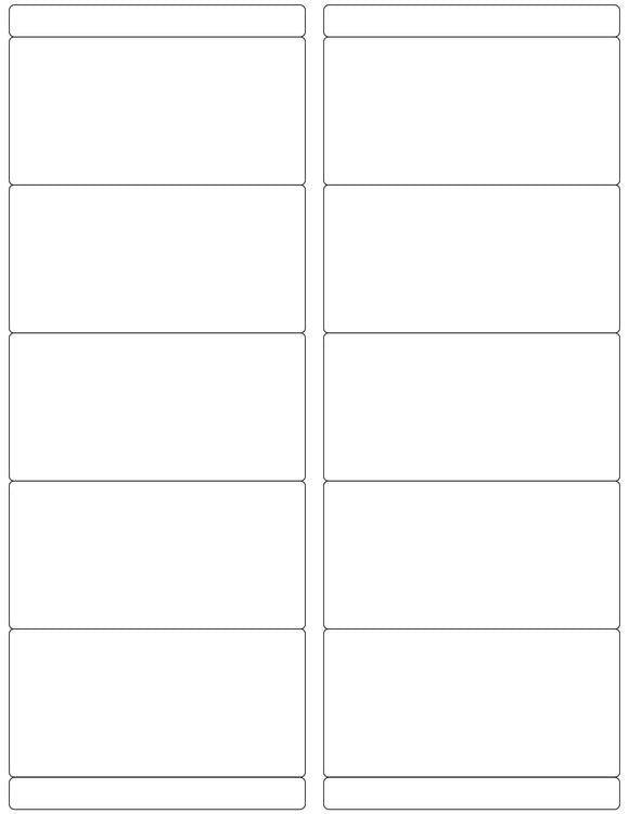 4 x 2 Rectangle White High Gloss Printed Label Sheet w/ Bars