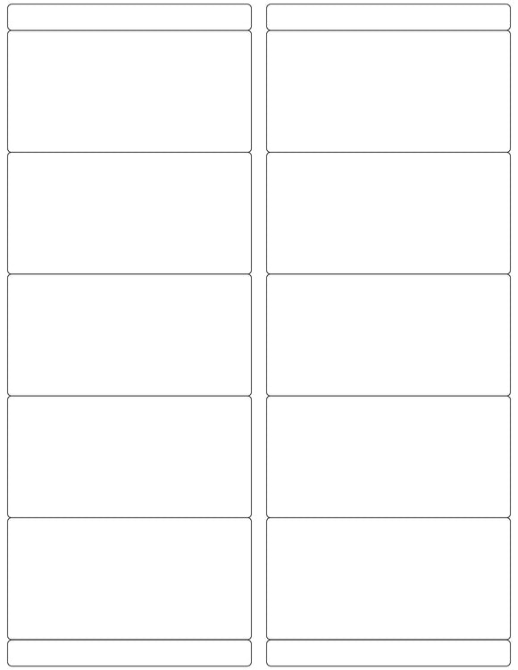 4 x 2 Rectangle White Label Sheet w/ Bars