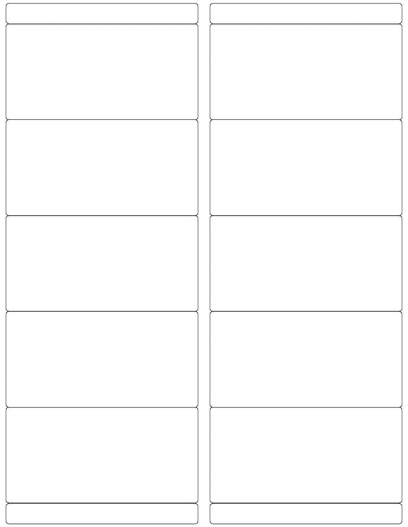 4 x 2 Rectangle Removable White Printed Label Sheet w/ Bars