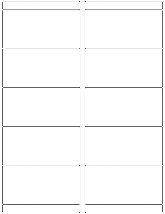 4 x 2 Rectangle White Printed Label Sheet w/ Bars
