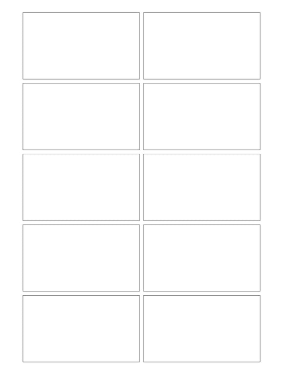 3 1/2 x 2 Rectangle White Label Sheet (square corners)
