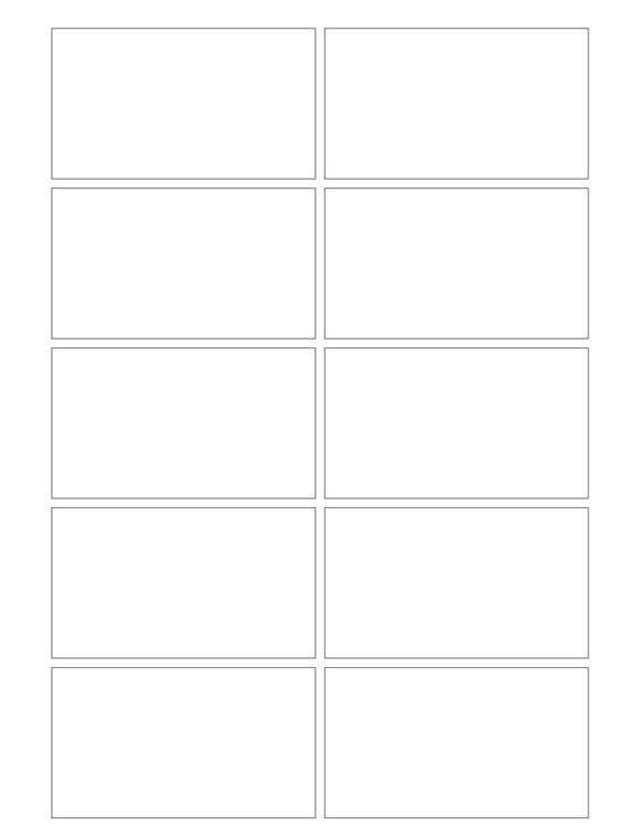 3 1/2 x 2 Rectangle Removable White Printed Label Sheet (square corners)