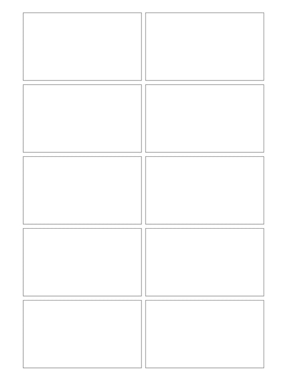 3 1/2 x 2 Rectangle White High Gloss Printed Label Sheet (square corners)