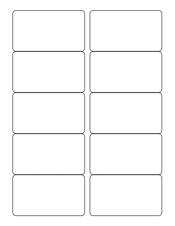 3 1/2 x 2 Rectangle White Label Sheet (rounded corners)