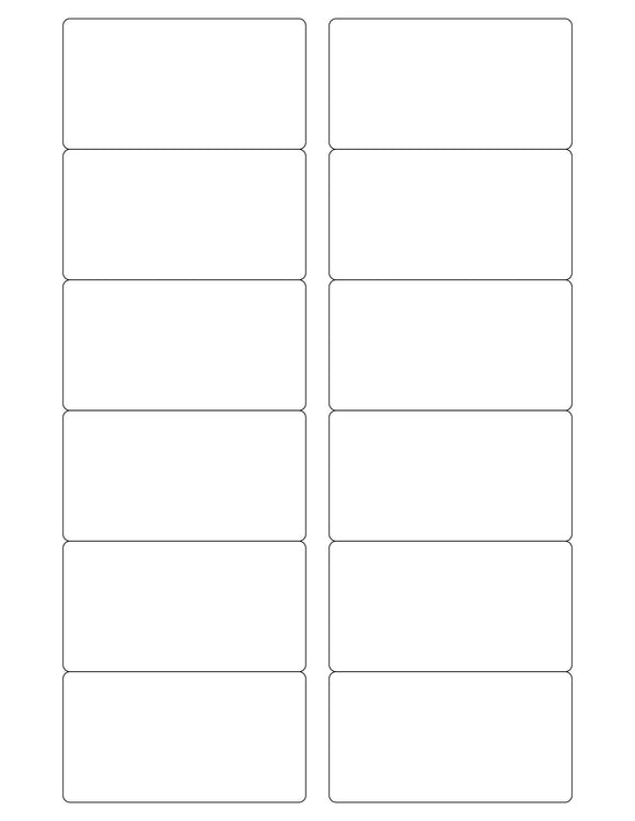 3 1/4 x 1 3/4 Rectangle Natural Ivory Printed Label Sheet