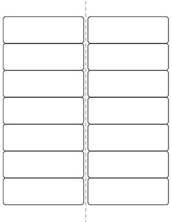 4 x 1 1/3 Rectangle (w/ perfs) White Label Sheet
