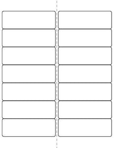 4 x 1 1/3 Rectangle (w/ perfs) Prairie Kraft Label Sheet