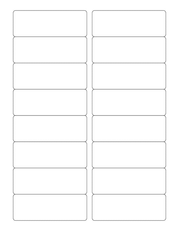 3 1/2 x 1 1/4 Rectangle Natural Ivory Printed Label Sheet