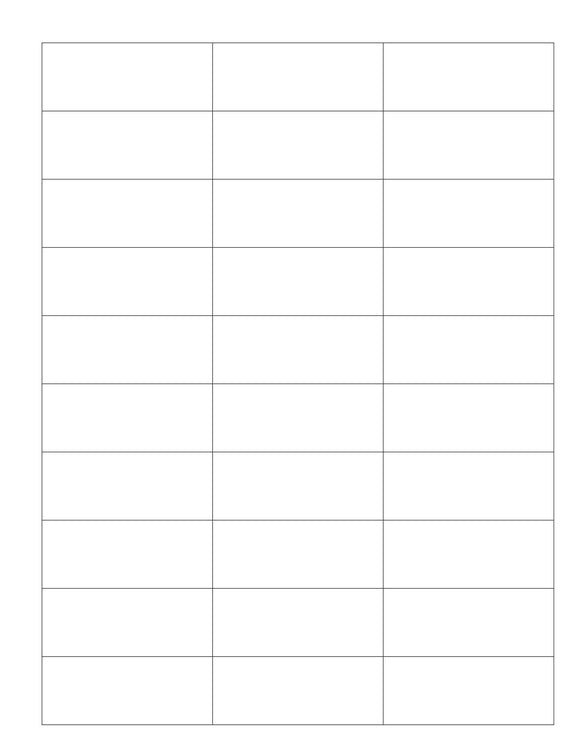 2 1/2 x 1 Rectangle White Label Sheet