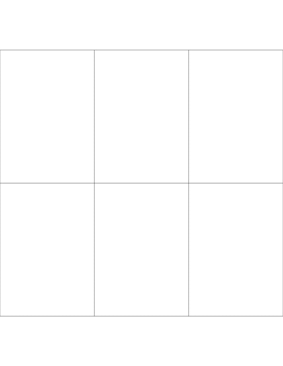 2.833 x 4 Rectangle White High Gloss Printed Label Sheet