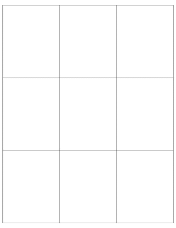 2 3/4 x 3 1/2 Rectangle Light Brown Kraft Printed Label Sheet