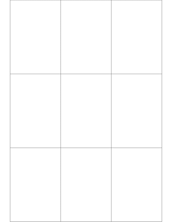 2 1/2 x 3 2/3 Rectangle White Label Sheet