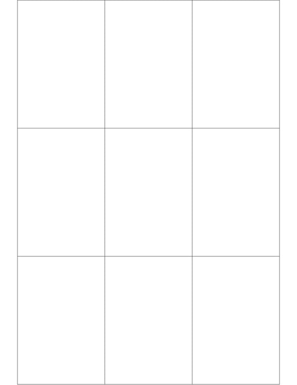 2 1/2 x 3 2/3 Rectangle White High Gloss Printed Label Sheet
