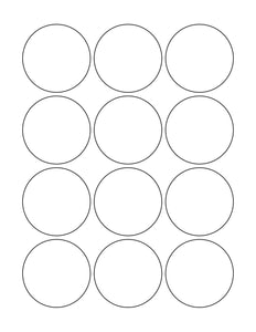 2 1/4 Diameter Round White Printed Label Sheet