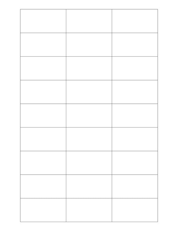 2 3/16 x 1 1/8 Rectangle White Opaque BLOCKOUT Printed Label Sheet