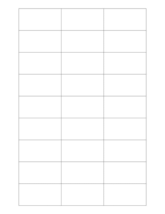 2 3/16 x 1 1/8 Rectangle White Label Sheet