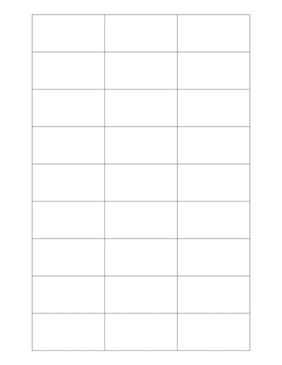 2 3/16 x 1 1/8 Rectangle White Printed Label Sheet