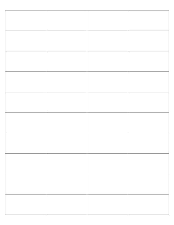 2 x 1 Rectangle White High Gloss Printed Label Sheet (Square Corners)