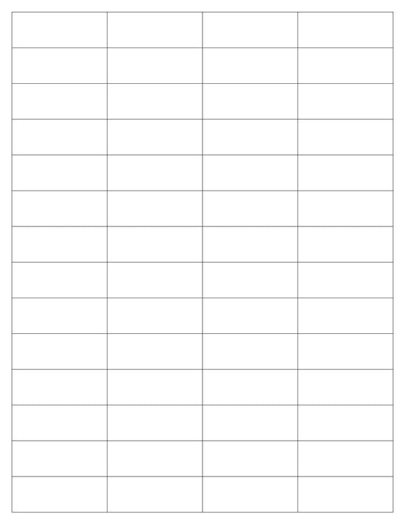2 x 3/4 Rectangle Natural Ivory Printed Label Sheet