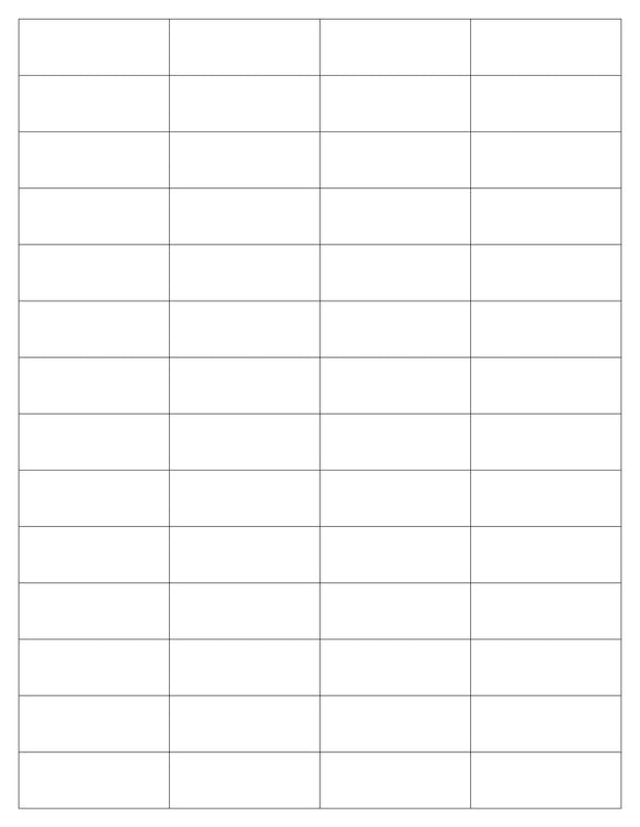 2 x 3/4 Rectangle White Printed Label Sheet