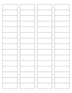 1 3/4 x 2/3 Rectangle Removable White Printed Label Sheet