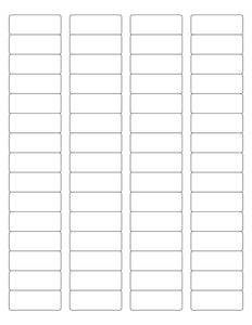 1 3/4 x 2/3 Rectangle White Label Sheet