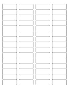 1 3/4 x 2/3 Rectangle Clear Gloss Printed Label Sheet