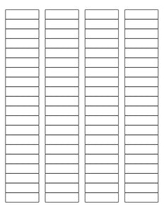 1 3/4 x 1/2 Rectangle Natural Ivory Label Sheet