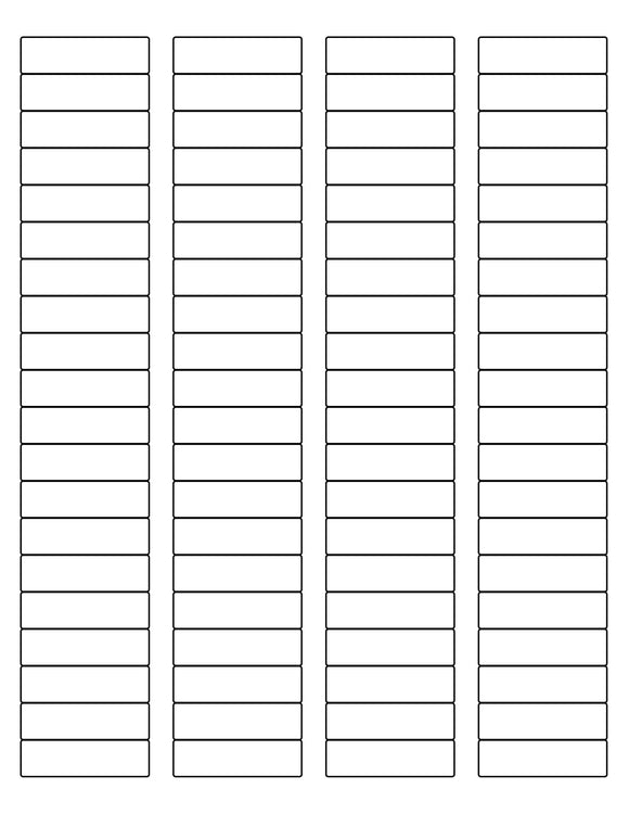 1 3/4 x 1/2 Rectangle White Label Sheet