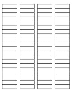 1 3/4 x 1/2 Rectangle Natural Ivory Printed Label Sheet