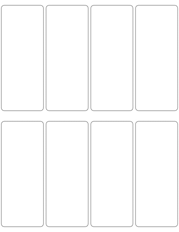 2 x 5 Rectangle White Printed Label Sheet