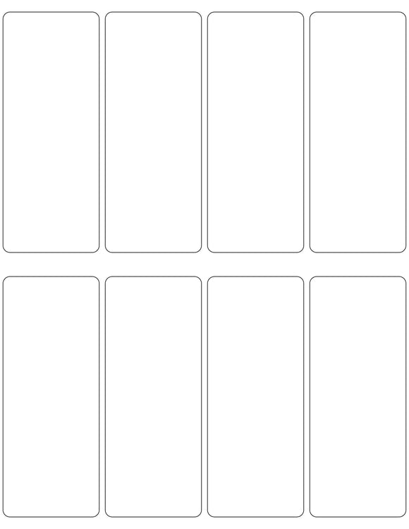 2 x 5 Rectangle White Label Sheet