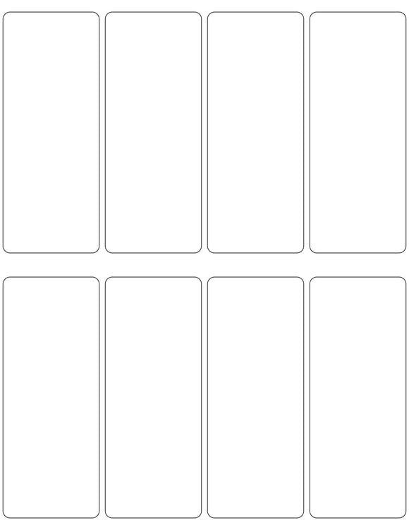2 x 5 Rectangle Removable White Printed Label Sheet