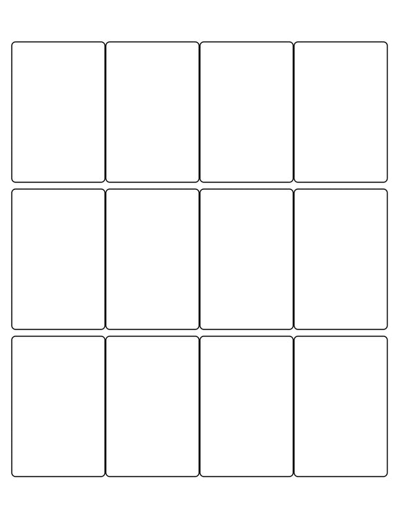 2 x 3 Rectangle White Label Sheet