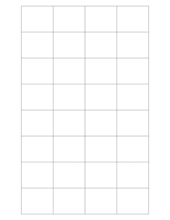 1.592 x 1.3 Rectangle White Printed Label Sheet