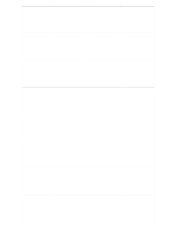1.592 x 1.3 Rectangle White Label Sheet