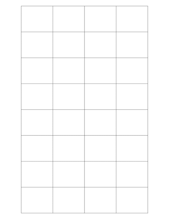 1.592 x 1.3 Rectangle Removable White Printed Label Sheet
