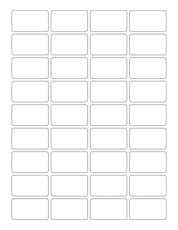 1 3/4 x 1 Rectangle Recycled White Printed Label Sheet