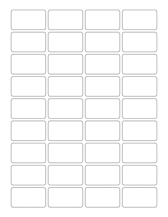1 3/4 x 1 Rectangle White Label Sheet