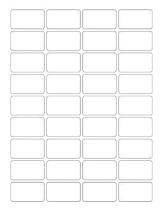 1 3/4 x 1 Rectangle White High Gloss Printed Label Sheet