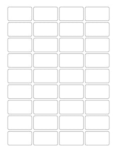 1 3/4 x 1 Rectangle White Printed Label Sheet