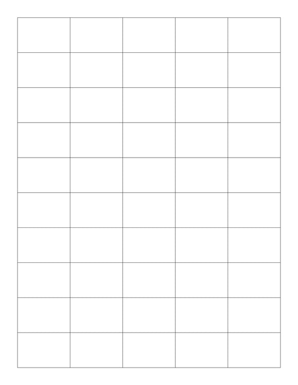 1 1/2 x 1 Rectangle White Printed Label Sheet