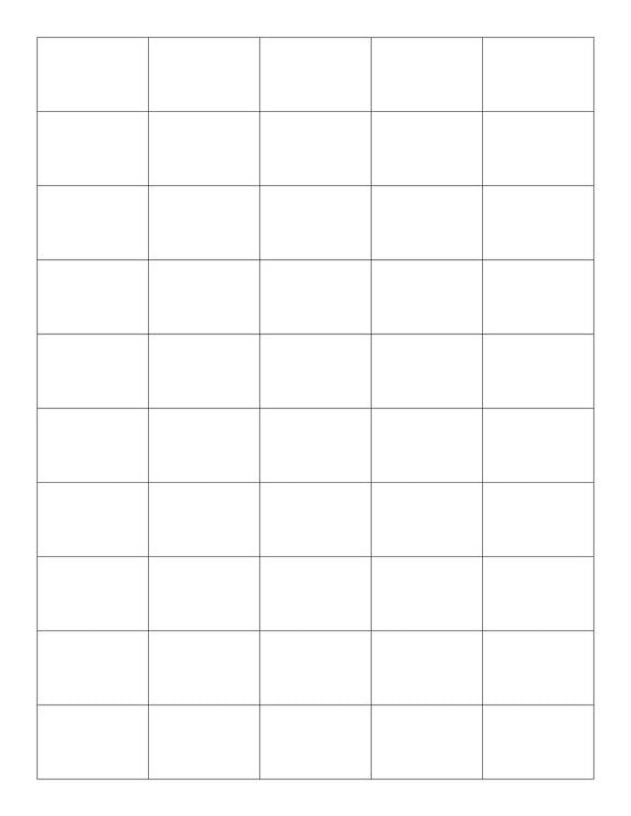 1 1/2 x 1 Rectangle Natural Ivory Printed Label Sheet